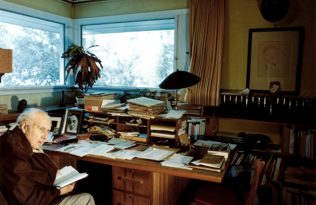 Photo of Ferdinand Eckhart in his study.