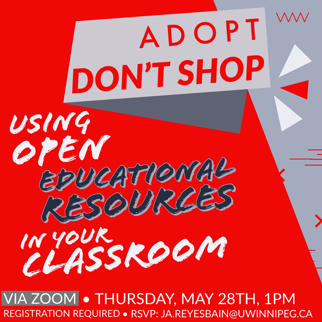 Adopt, Don't Shop: Using Open Educational Resources