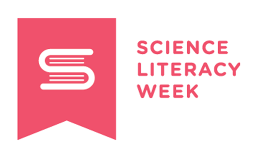 Science literacy week logo.