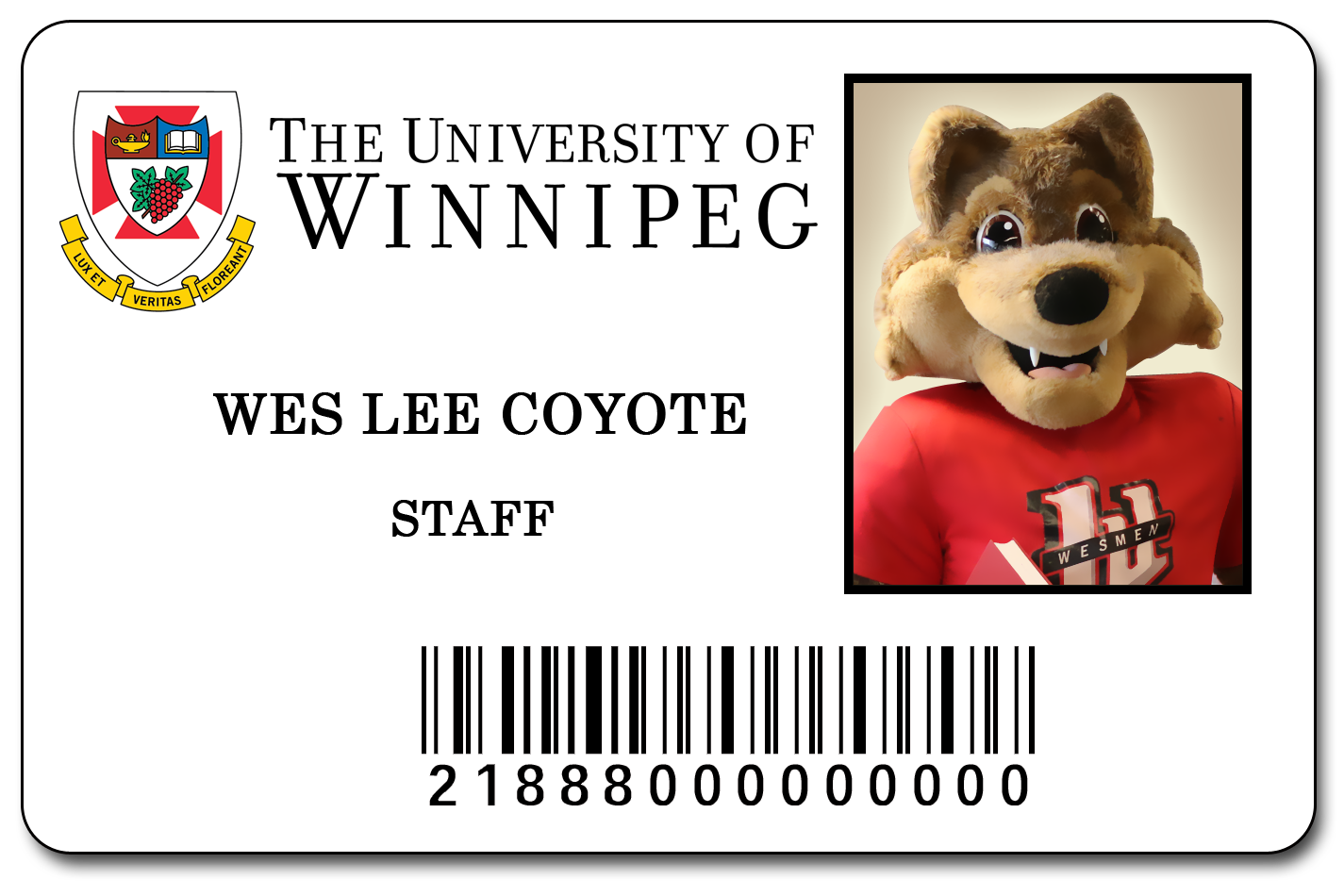 A Photo of Wes Lee Coyote's ID